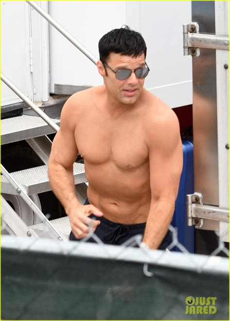 Ricky Martin Covers Up His Tattoos as He Goes Shirtless on