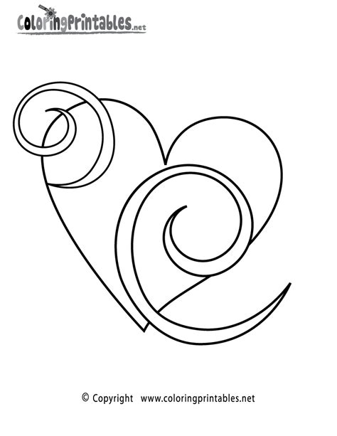 Free Printable Heart Swirls Coloring Page