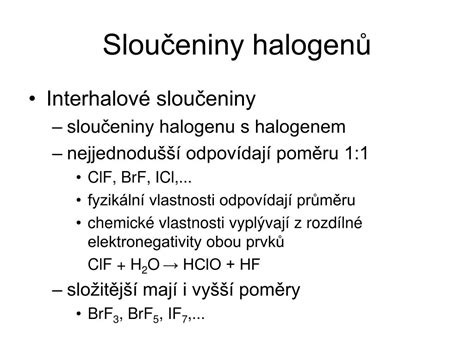 PPT - Halogeny PowerPoint Presentation, free download - ID