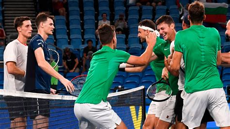 Great Britain beaten by Bulgaria at ATP Cup in Sydney