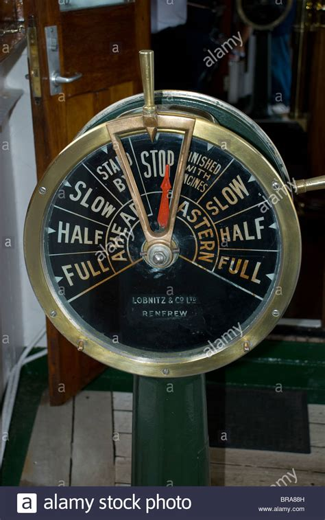 ship's speed control bridge telegraph from the steamship