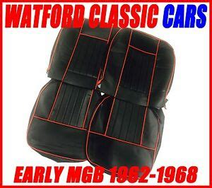 MGB Roadster and GT Seat Covers 1962 -1968 Black / Red