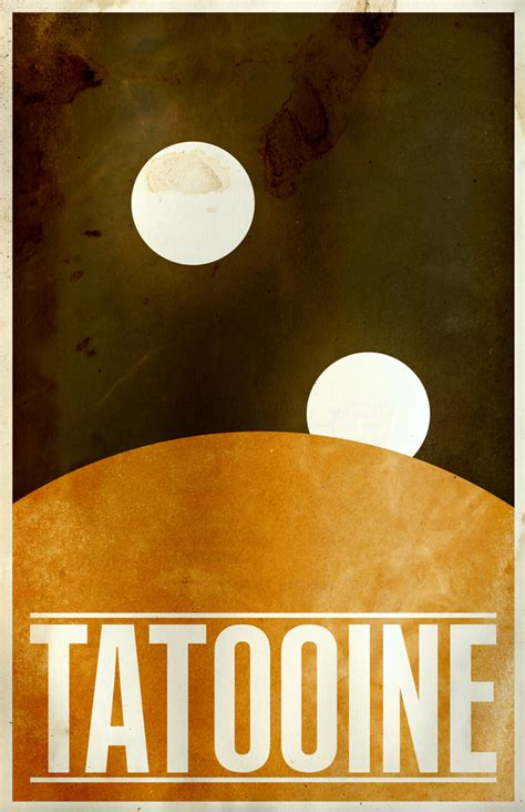 Wonderful Posters Imagine Iconic 'Star Wars' Planets As