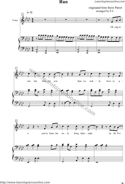 Run by Leona Lewis Free Piano Sheet Music | Learn How To