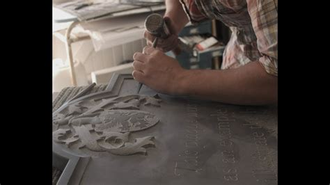 Hand Stone Carving, lettering - YouTube
