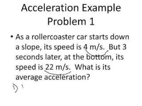CMS Physical Science Solving Acceleration Problems - YouTube
