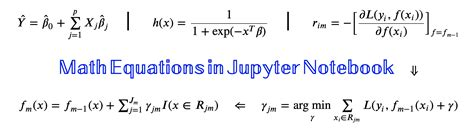 Writing Math Equations in Jupyter Notebook: A Naive