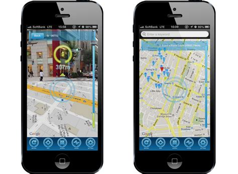 augmented reality maps application for iPhone by crossfader