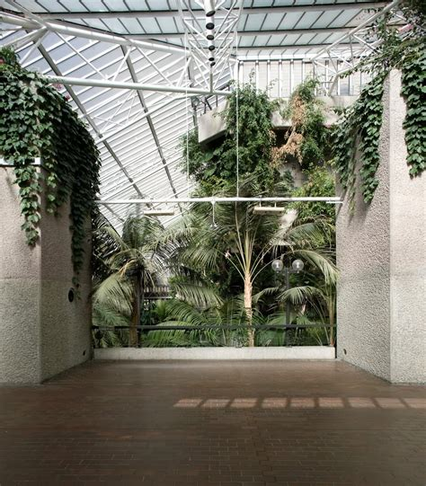 The Exotic Brutalism of the Barbican Conservatory Depicted