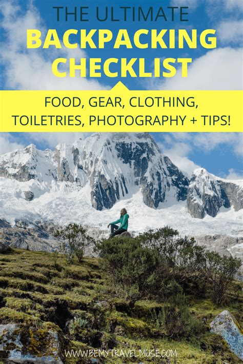The Only Backpacking Checklist You'll Ever Need