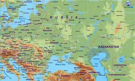 Map of Eastern Europe (General Map / Region of the World