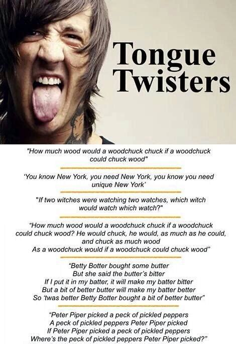 Tongue Twisters in English – Materials For Learning English