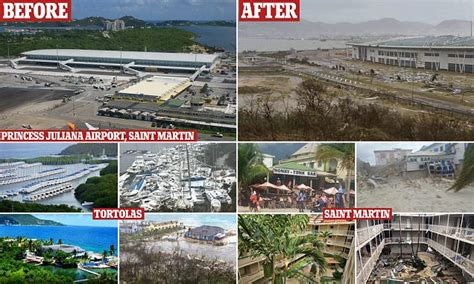 Before and after photos of Hurricane Irma's destruction