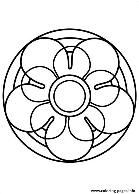 Easy Simple Mandala 67 Coloring Pages Printable