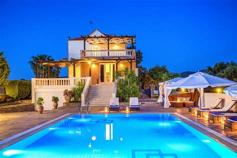 Luxury large villa Athena with private pool in East Crete